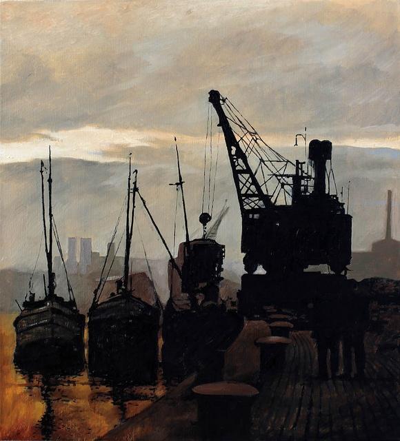 Sundown on North Quay docks