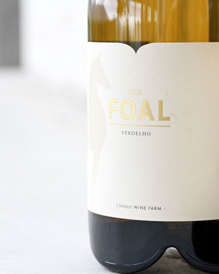 Label design for Foal   #CavalliEstate #Wines