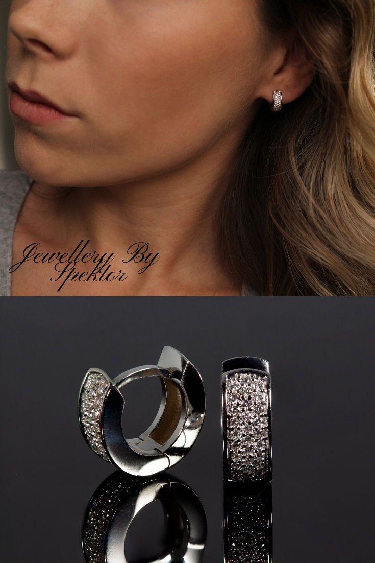 3eb3b0629fe Diamond Huggie Earrings, Diamond Huggies, Huggie Hoop Earrings ...