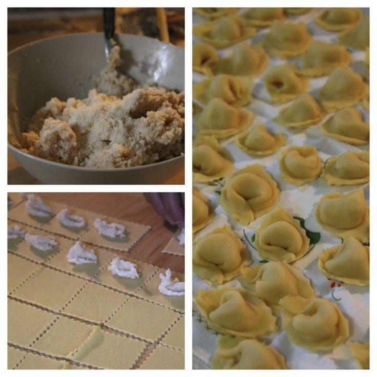 I cappelletti Romagnoli per il pranzo di Natale Broth whith tortellini (pasta stuffed with pork, mortadella and parmisan)