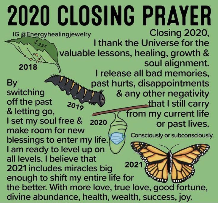 2020 Closing Prayer Closing prayer, Happy new year