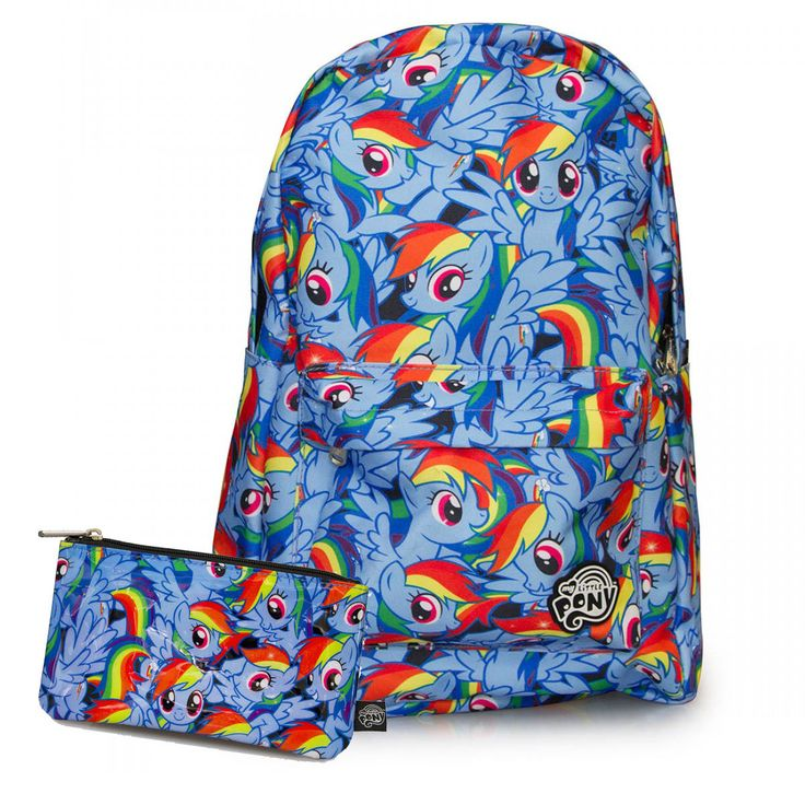 My Little Pony Rainbow Dash Backpack And Pencil Case By Loungefly Mlp Pinterest Rainbow