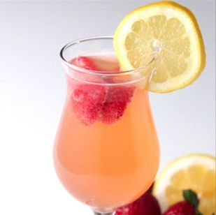Strawberry Lemonade Sangria Servings: 6-8 Ingredients 2 lbs strawberries, sliced 1 lemon, sliced 1 bottle white wine 1 cup white rum 4 cups lemonade 2 cups champagne Lemon slices for garnish Preparation: In a large pitcher, combine the strawberries, lemon, wine, rum, and lemonade. Stir until mixed. Chill for at least 4 hours. Add the champagne, then serve with a lemon slice on each glass!