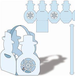 Silhouette Online Store - View Design #4554: snowman favor basket