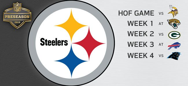 Steelers Announce 2015 Preseason Schedule starting with the August 9th Hall of Fame game against the Minnesota Vikings.