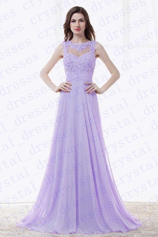 3ab1f2f6e3fa0 Chiffon Long Evening Party Ball Gown prom dress Bridesmaid Dresses Size  6-20 Party Ball Gown