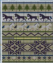 Ravelry: Icelandic Horses Xmas Stocking pattern by Shannon Griswold
