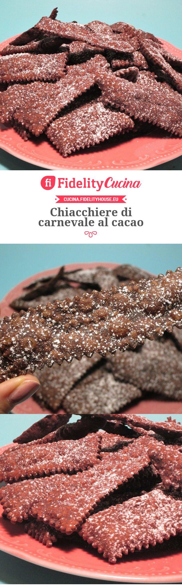 Chiacchiere di carnevale al cacao