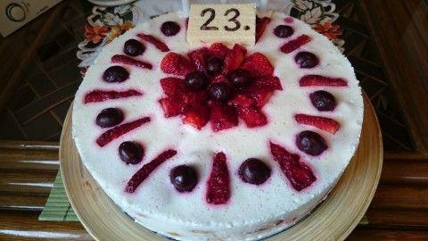Nepečený jogurtový dortík s ovocem - Powered by @ultimaterecipe