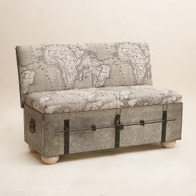 Trunk turned into bench - LOVE it!!