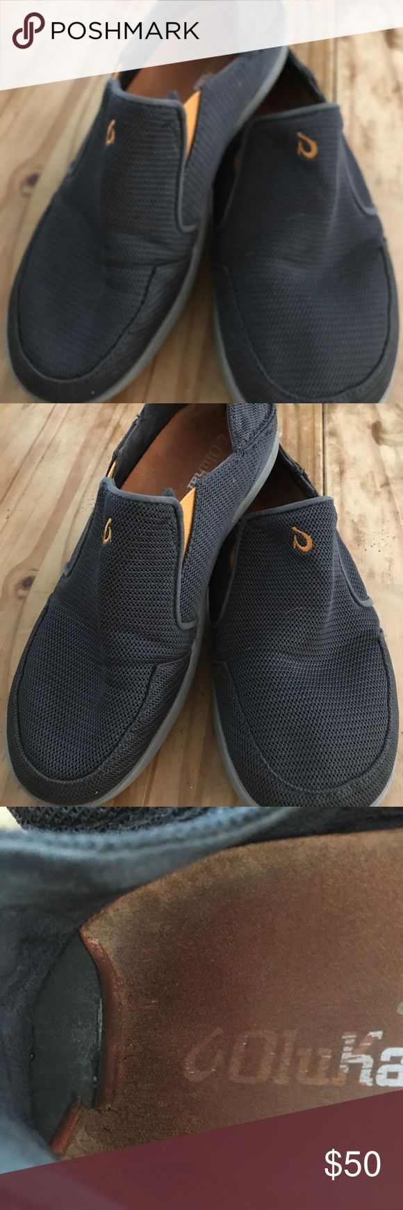 Olukai sandals size 9.5 Great quality shoes that has some used and inside has some trace of dirt and insole has rolled material but this doesn't affect the integrity of the shoes. OluKai Shoes Loafers & Slip-Ons