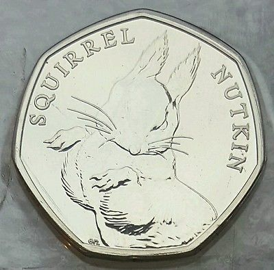 2016 50p Fifty Pence Squirrel Nutkin Beatrix Potter BU New • £16.99