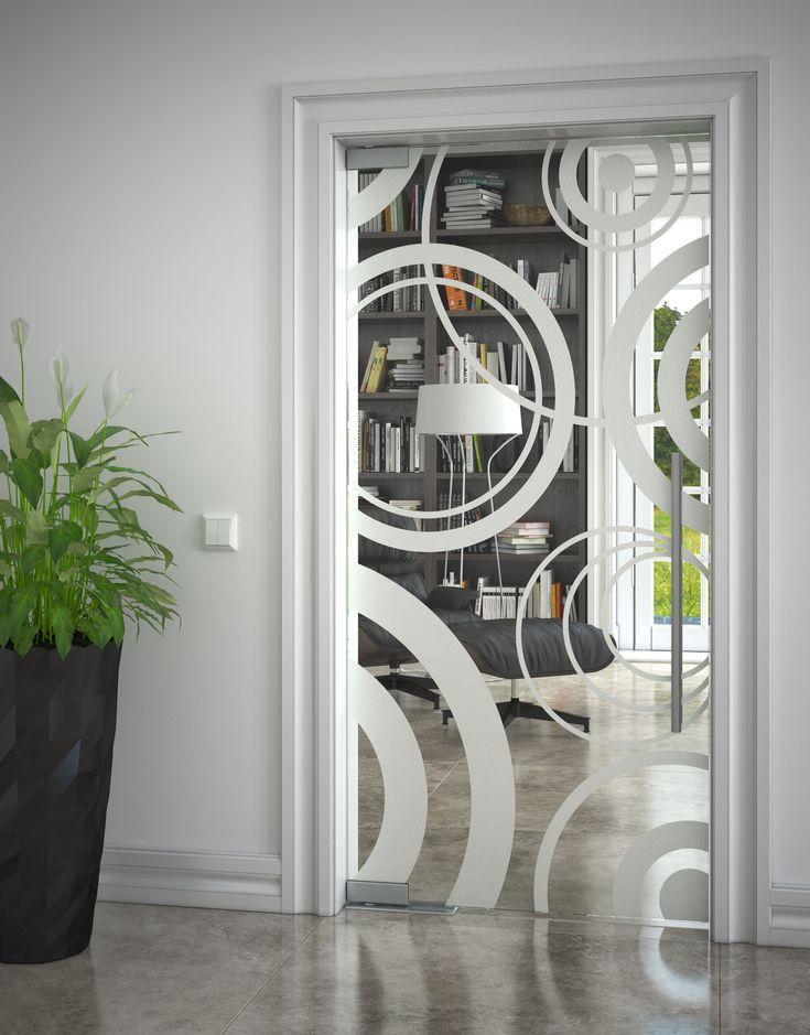 Celoskleněné posuvné dveře JAP s pískovaným motivem #sklo#design#interier#bydleni#house#pískovanésklo#sandblasted#doors#dveře#door#modern#pocketdoors#glassdoors#