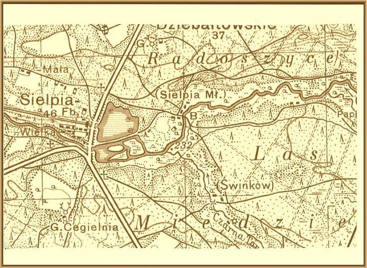 Sielpia stara mapa