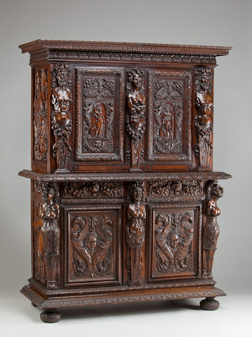 French or Italian, 16th century, period of Francis I (r. 1515–1547)       Two-Part Cabinet