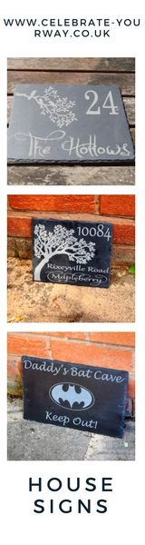 house signs, personalised house signs, slate signs, slate house signs #personalisedgift #housesign shed sign , batman , tree house sign , bird house sign , house number, personalized house sign