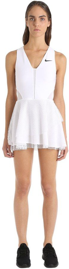 Nike Tennis Dress With Mesh Overlays