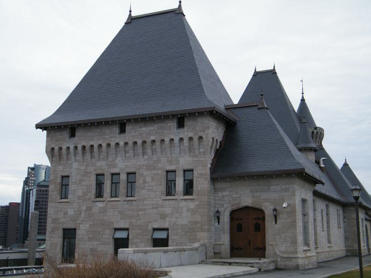 McTavish Pumping Station, Montreal, Quebec, Canada.  North Country Unfading Black slate roof.
