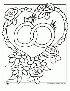 Wedding Coloring Books - Free Pages and Clip art. Ha so my guests can color!