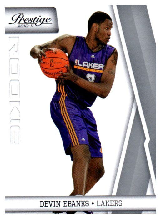 2010-11 Prestige Devin Ebanks Rookie Card Los Angeles Lakers