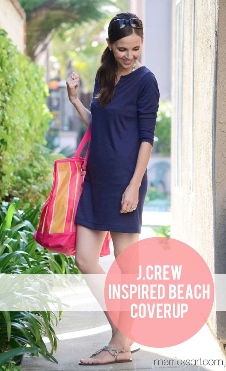 Merrick's Art // Style + Sewing for the Everyday Girl: J.Crew Inspired Beach Coverup (Tutorial)