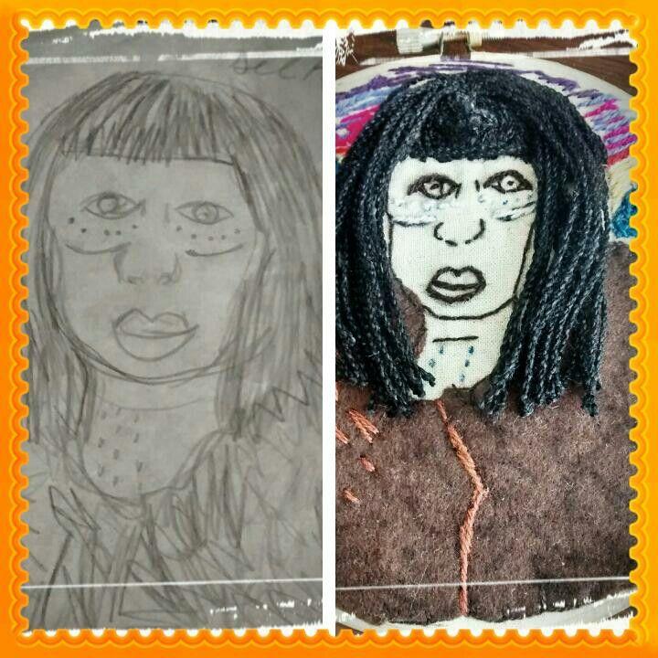 Bocetos y arpilleras #bordado #mujer #indigena #art