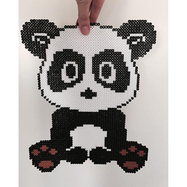 Panda bear hama beads by mdittfeld