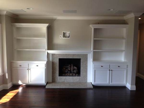 Built In Shelving Around Fireplace Google Search