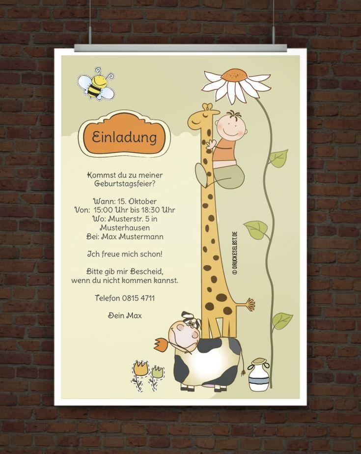 die besten 25+ einladung kindergeburtstag text ideen nur auf, Einladungsentwurf