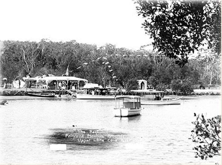 """The """"Rest"""" at Fairyland Pleasure Grounds at the Lane Cove National Park in 1908."""