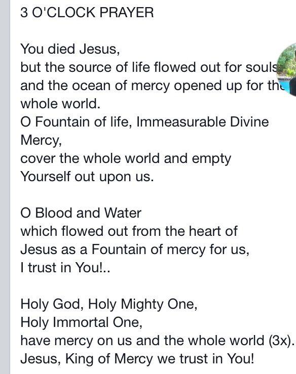 3 O' Clock Prayer.