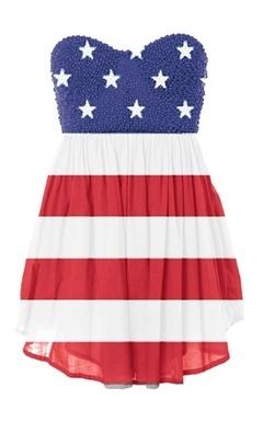 AMERICAN FLAG DRESS- love it. looks very wonder woman