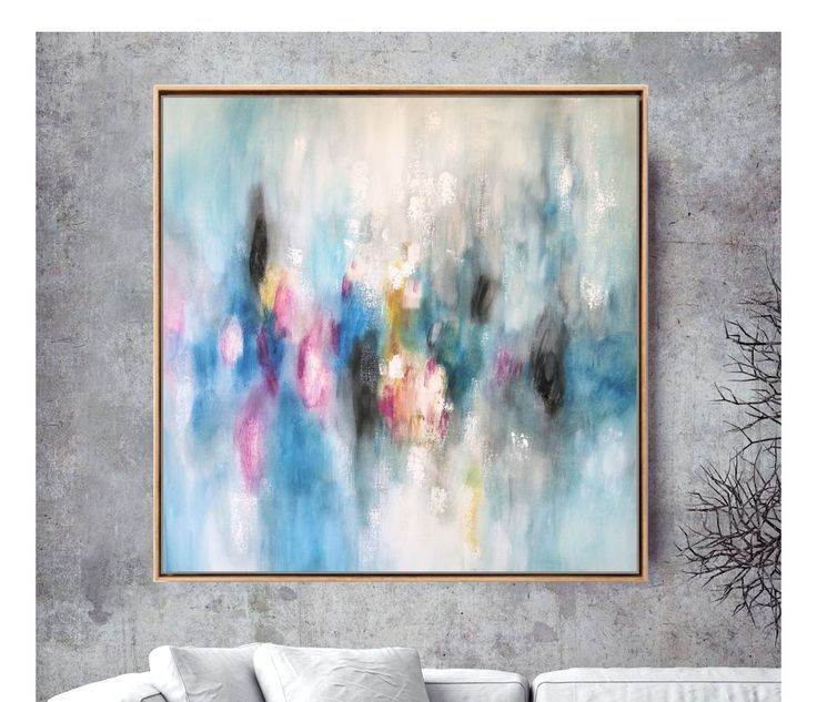 Large 36×36 Abstract Painting – Original Canvas Ar…
