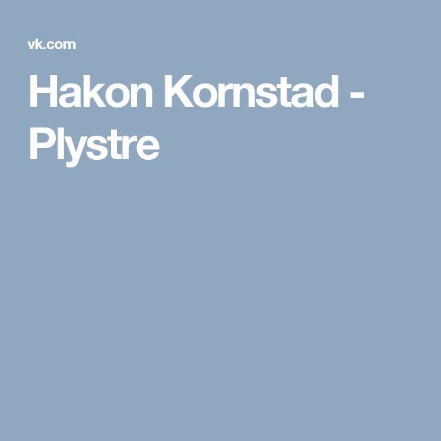 Hakon Kornstad - Plystre