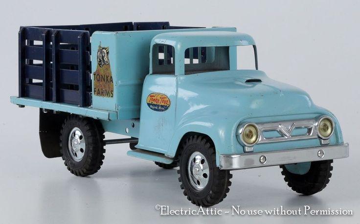 1957 Tonka Toys Baby Blue Farm Stake Truck All Original