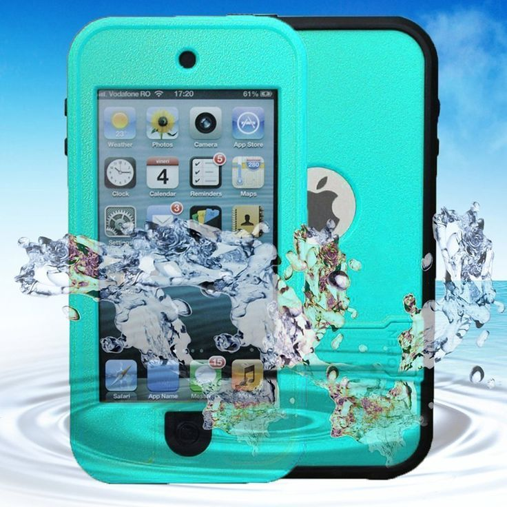 iPod Touch 5 Waterproof Case KINGCOOL(TM) Waterproof Shockproof Dirt Proof Snow Proof Heavy Duty Full Body Armor Defender Protective Case Cover for Apple iPod Touch 5(Mint Green) Specially design for Apple iPod touch 5 This case provides waterproof protection for your smartphone while maintaining full touch screen functionality Protect your phone from damaging by water splashes and sand getting in cracks and crevices Precise cutouts gives you total access to all functionality and buttons