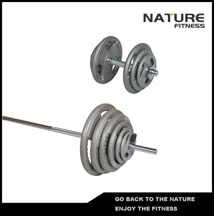 50kg Standard Hammertone Barbell/ Adjustable Dumbbell Weights Set
