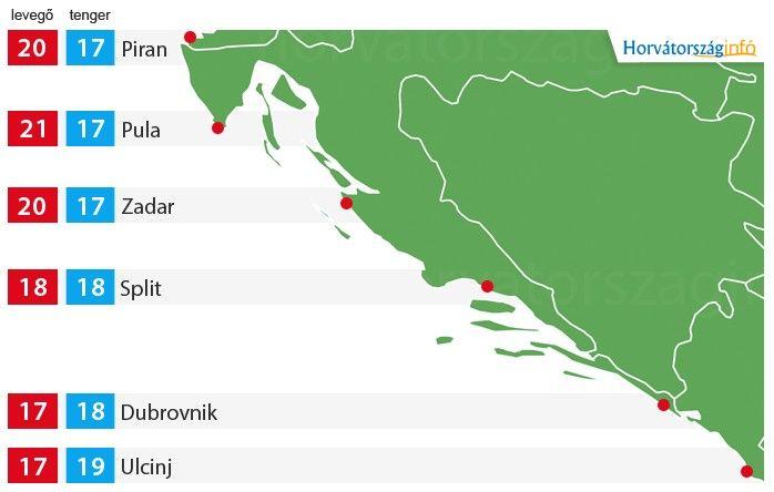 Így alakul Montenegró és Horvátország időjárása a hétvégén. Végre visszatér a jó idő és a nyárias hangulat! :) #horvátország #időjárás