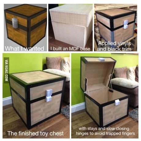 I had to punch a tree, but my son got a cool toy chest!
