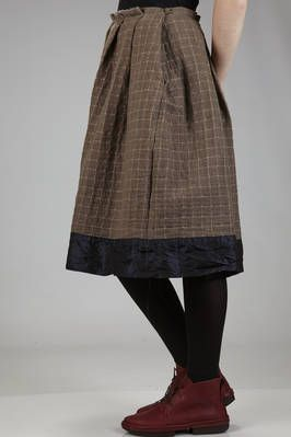 Daniela Gregis | wide calf-length skirt in wool gauze, cashmere and cotton and silk liberty | #danielagregis