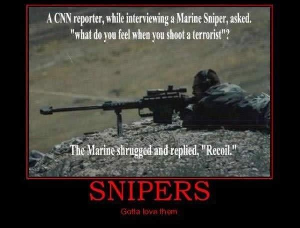 sniper, demotivational poster