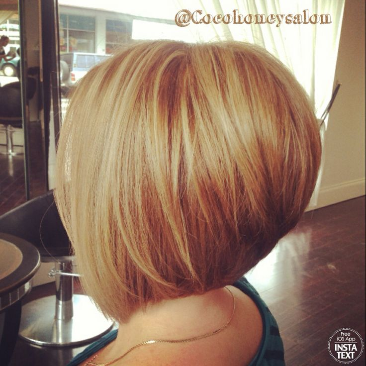 Razor Cut Concave Bob Golden Blonde Base With Lightest