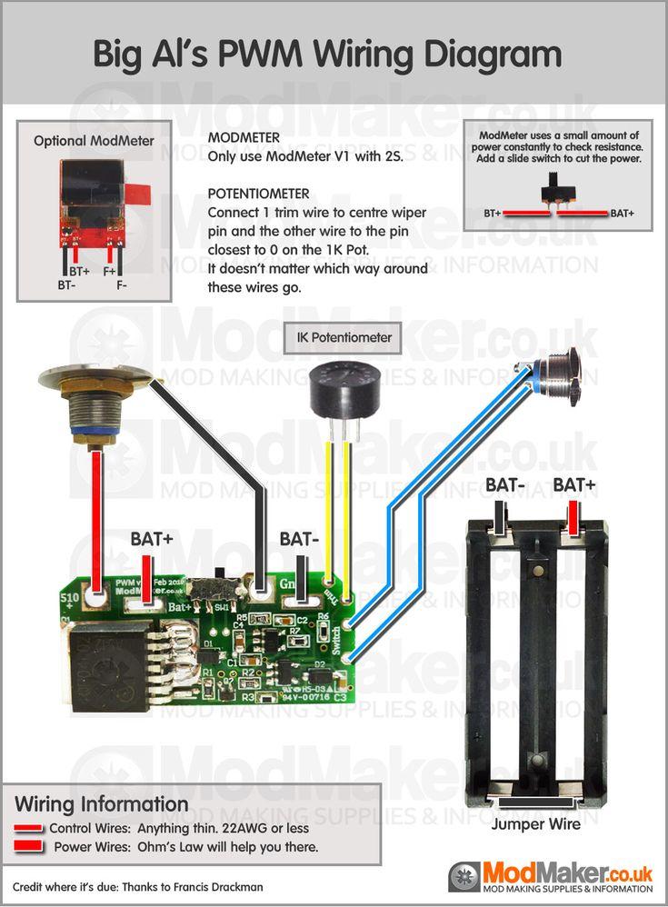Big Al's Sled Mount 4S PWM Wiring Diagram | Vape Box Mods