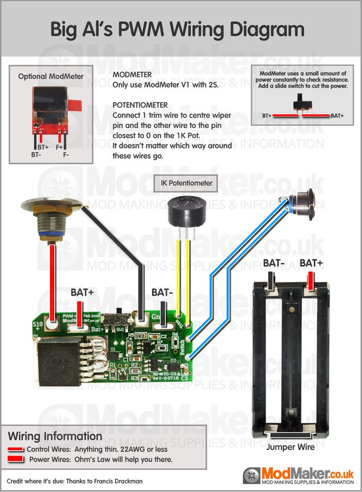 Big Al's Sled Mount 4S PWM Wiring Diagram Vape Box Mods
