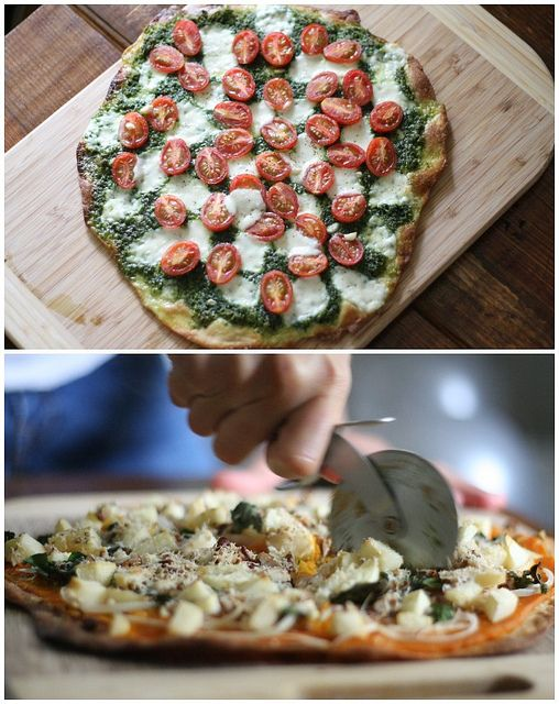 Pesto Pizza + Squash Pizza with Einkorn Crusts | FoodLovesWriting.com