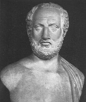 Tucídices, (Atenas, 465-395 a.n.e.). Fue un historiador girego. Su concepción de la historia es más científica que la de Herodoto. Se le considera uno de los creadores de la ciencia histórica.