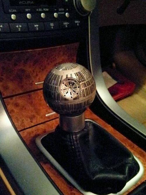 Awesome Death Star Gear Shift @Corey Reece Woodcox