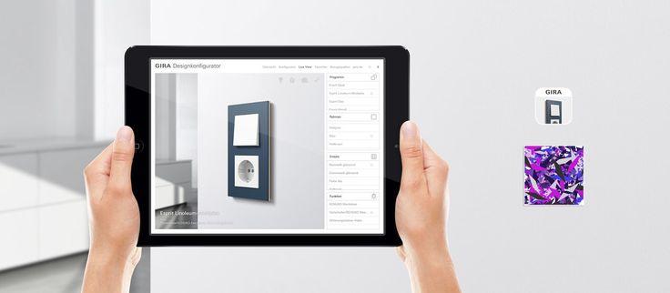 Live View lar deg teste bryterne rett på veggen. Gira Designkonfigurator. Micro Matic Norge