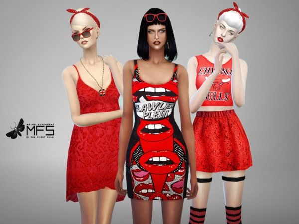 MissFortune's MFS Red Mood Collection | Sims 4 Updates -♦- Sims Finds & Sims Must Haves -♦- Free Sims Downloads