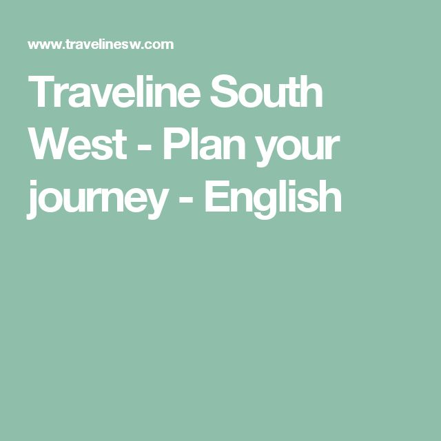 Traveline South West - Plan your journey - English